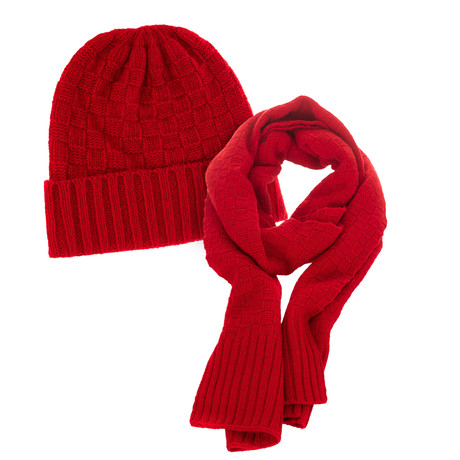 Hat + Scarf Set // Red