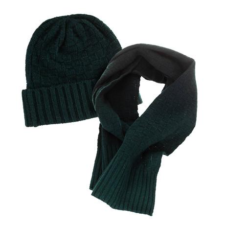 Hat + Scarf Set // Dark Green