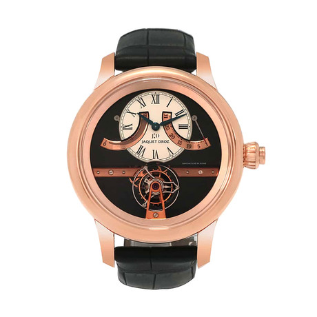 Jaquet Droz Tourbillon Retrograde Reserve De Marche Manual Wind // J028033201 // Store Display