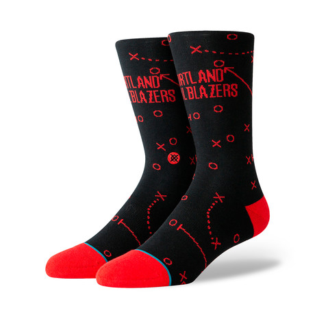 Trailblazers Playbook Socks // Black (M)