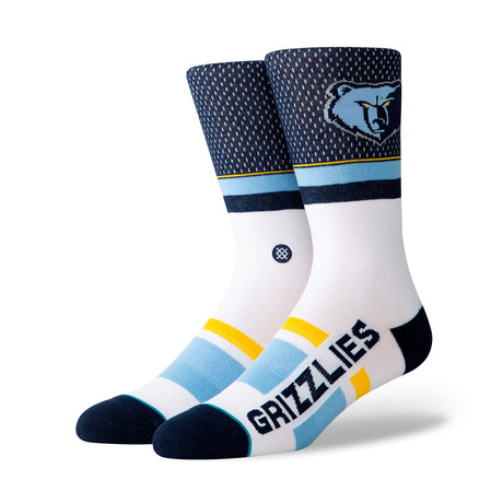 Grizzlies Shortcut Socks // Navy (M)