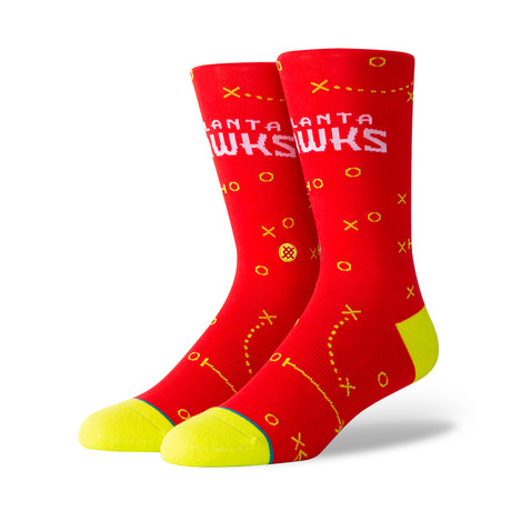 Hawks Playbook Socks // Red (M)