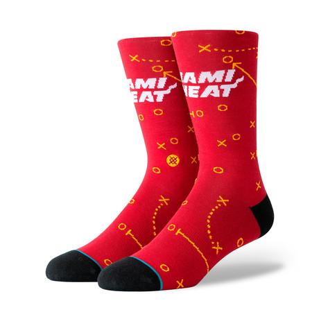 Heat Playbook Socks // Burgundy (S)