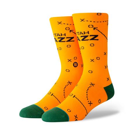 Jazz Playbook Socks // Yellow (S)