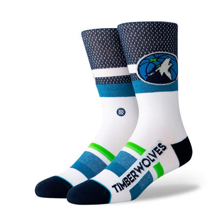 Twolves Shortcut Socks // Navy (M)