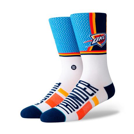 Thunder Shortcut Socks // Blue (M)