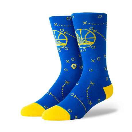 Warriors Playbook Socks // Blue (M)