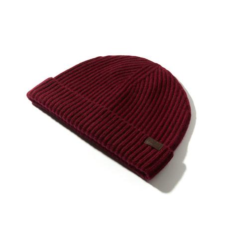Cashmere Cardigan Stitch Hat V2 // Bordeaux