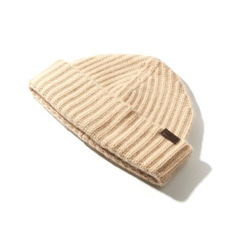 Cashmere Cardigan Stitch Hat // Natural