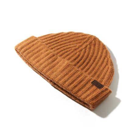 Cashmere Cardigan Stitch Hat // Vicuna