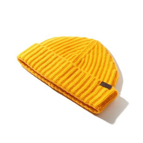 Cashmere Cardigan Stitch Hat // Gold