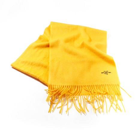 Cashmere Solid Waterweave Scarf // Gold