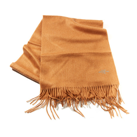 Cashmere Solid Waterweave Scarf // Vicuna