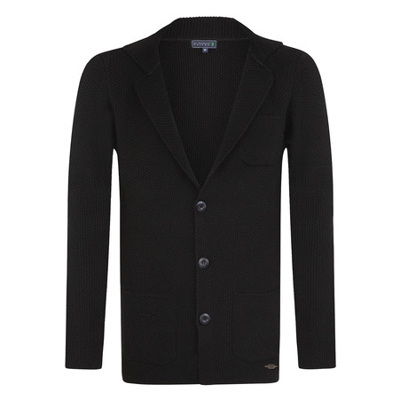 Undulation Cardigan // Black (S)