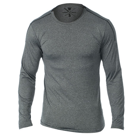 Everyday Long Sleeve Fitness Tech T // Gray (S)