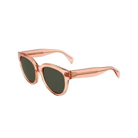 Celine // Women's Sunglasses // Orange Translucent + Gray