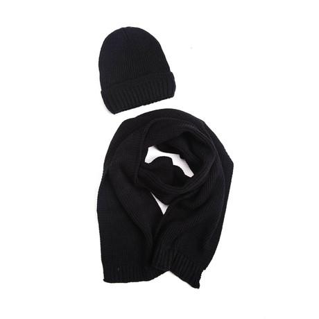 Sebastian Wool Hat + Scarf Set (Light Gray)