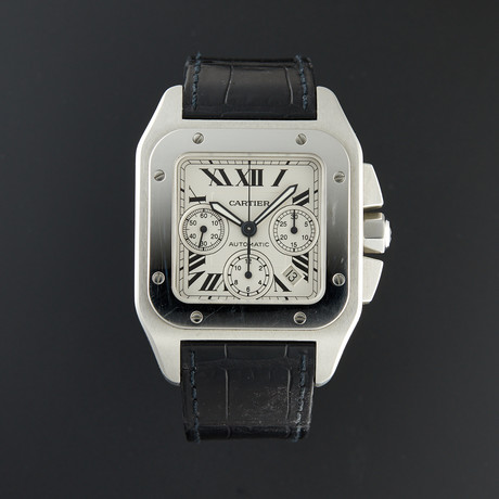 Cartier Santos 100 XL Chronograph Automatic // W20090X8 // Pre-Owned