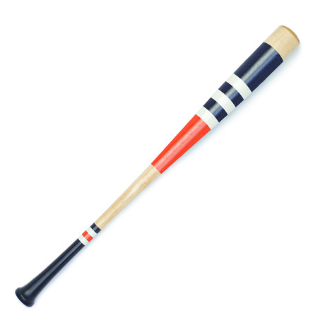 Bat No. 11 // White + Orange + Navy Blue