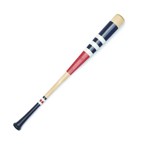 Bat No. 9 // White + Red + Navy Blue