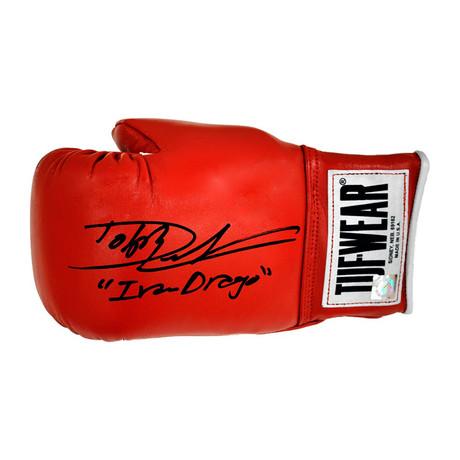 "Dolph Lundgren ""Ivan Drago"" // Autographed Tuf Wear Boxing Glove"