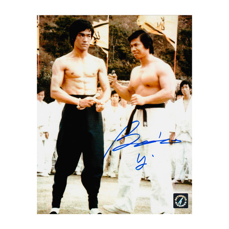 """Bolo Yeung // Autographed """"Enter The Dragon"""" Photo With Bruce Lee"""