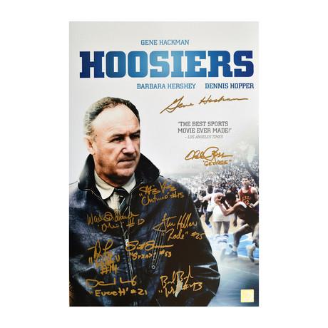 """Gene Hackman & Hoosiers Cast // Autographed """"Coach Dale"""""""