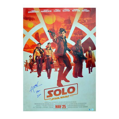 "Alden Ehrenreich Han Solo // Autographed ""SOLO"" Original Movie Poster"