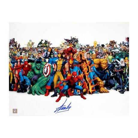 Stan Lee // Autographed Marvel Super Heroes Cast