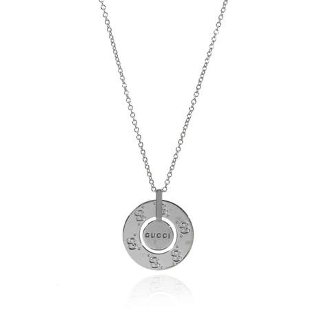 Gucci 18k White Gold Icon Necklace