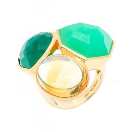 Ippolita 18k Rock Candy Gelato 3-Stone Ring // Ring Size: 6.75