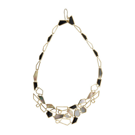 Ippolita Polished Rock Candy 18k Yellow Gold Multi-Colored Stones Bib Necklace