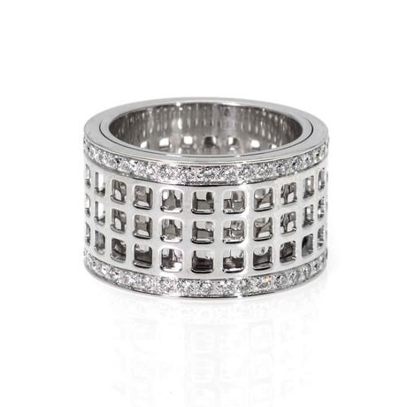 Gucci 18k White Gold Diamond Ring // Ring Size: 6.75