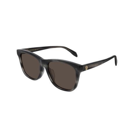 Alexander McQueen // Unisex Square Skull Sunglasses // Gray