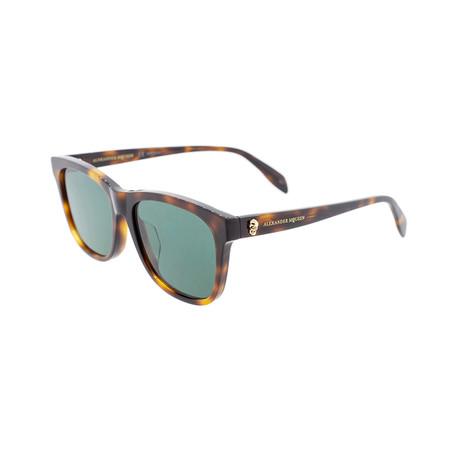Alexander McQueen // Unisex Square Skull Sunglasses // Havana Brown
