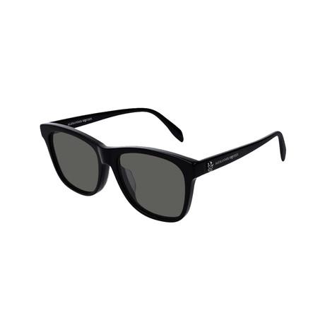 Alexander McQueen // Unisex Square Skull Sunglasses // Black