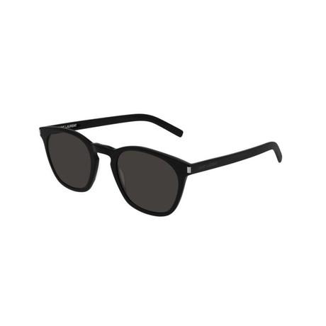 Saint Laurent // Unisex Round Sunglasses // Black