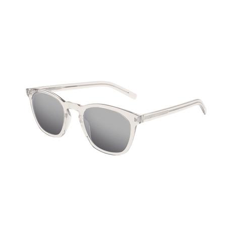 Saint Laurent // Unisex Round Sunglasses // Beige