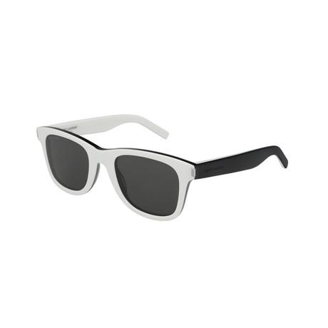 Saint Laurent // Unisex Square Sunglasses // White + Black