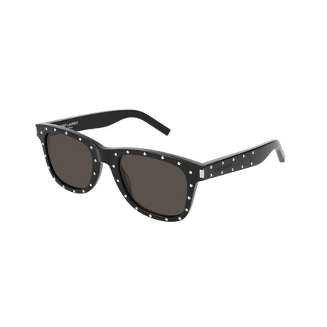 Saint Laurent // Unisex Square Studded Sunglasses // Black