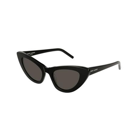Saint Laurent // Unisex Cat-Eye Sunglasses // Black