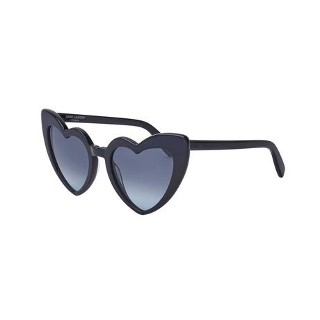 Saint Laurent // Unisex Heart Cat-Eye Sunglasses // Black II