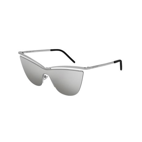 Saint Laurent // Unisex Cat-Eye Sunglasses // Silver