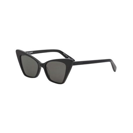 Saint Laurent // Unisex Cat-Eye Sunglasses // Black II