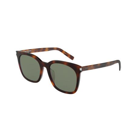 Saint Laurent // Unisex Square Sunglasses // Havana Brown