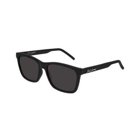 Saint Laurent // Unisex Logo Square Sunglasses // Black