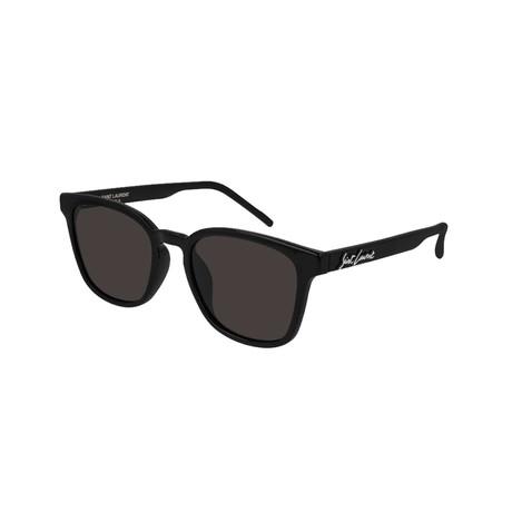 Saint Laurent // Unisex Logo Square Sunglasses // Black II