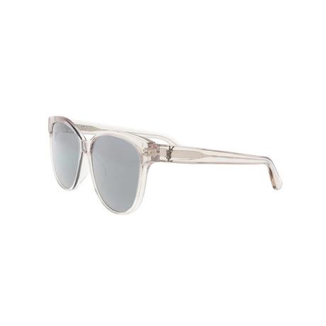 Saint Laurent // Unisex Oversized Round Sunglasses // Beige