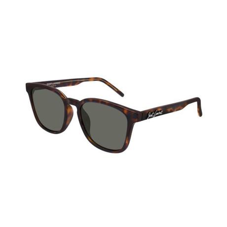 Saint Laurent // Unisex Logo Square Sunglasses // Brown II