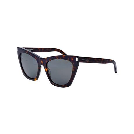 Saint Laurent // Unisex Cat-Eye Sunglasses // Havana Brown